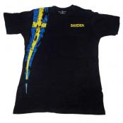 Sverige T-shirt Flagga Svart S