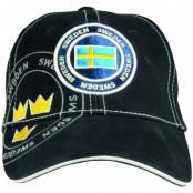 Sverige Keps Side Mörkblå