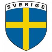 Sverige Dekal Sköld
