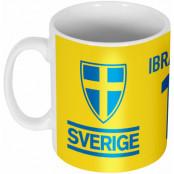 Sverige Mugg Ibrahimovic 10 Team Zlatan Ibrahimovic Gul