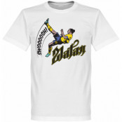 Sverige T-shirt Bicycle Kick Football Barn Zlatan Ibrahimovic Vit 2 år