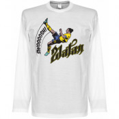 Sverige T-shirt Bicycle Kick LS Zlatan Ibrahimovic Vit S