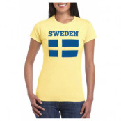 Sverige T-shirt Fashion Dam S