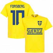 Sverige T-shirt Forsberg 10 Team Gul S