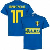 Sverige T-shirt Ibrahimovic 10 Team Zlatan Ibrahimovic Blå S