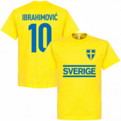 Sverige T-shirt Ibrahimovic 10 Team Zlatan Ibrahimovic Gul XS