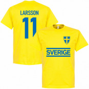 Sverige T-shirt Larsson Team Gul XS