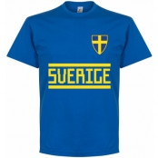 Sverige T-shirt Team  Blå S