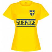 Sverige T-shirt Team Dam Gul S