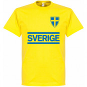 Sverige T-shirt Team Gul XS