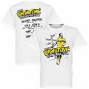 Sverige T-shirt Tour Zlatan Ibrahimovic Vit XS