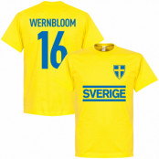 Sverige T-shirt Wernbloom 16 Team Gul XS