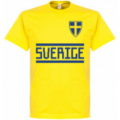 Sverige T-shirt Wordmark Gul S