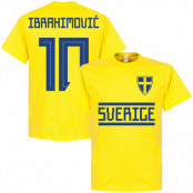 Sverige T-shirt Zlatan Ibrahimovic 10 Gul S