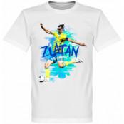 Sverige T-shirt Zlatan Motion Barn Zlatan Ibrahimovic Vit 2 år