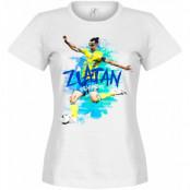 Sverige T-shirt Zlatan Motion Dam Zlatan Ibrahimovic Vit S - 8