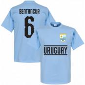 Uruguay T-shirt Bentancur 6 Team Ljusblå XS