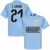 Uruguay T-shirt Cavani 21 Team Ljusblå XS