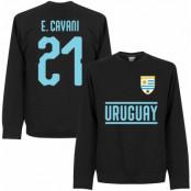 Uruguay T-shirt Cavani 21 Team Sweatshirt Svart S