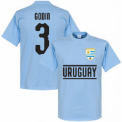 Uruguay T-shirt Godin 3 Team Ljusblå XS