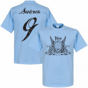Uruguay T-shirt  Luis Suarez Ljusblå XS