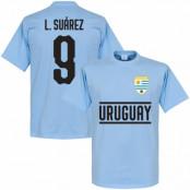 Uruguay T-shirt Suarez 9 Team Luis Suarez Ljusblå XS