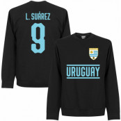 Uruguay T-shirt Suarez 9 Team Sweatshirt Luis Suarez Svart S