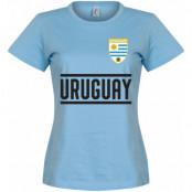 Uruguay T-shirt Team Dam Ljusblå S