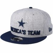 Keps Dallas Cowboys 2018 NFL Draft On-Stage Grey/Navy Snapback - New Era