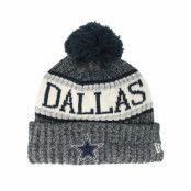 Mössa Dallas Cowboys Sport Knit Navy Pom - New Era - Blå Tofs