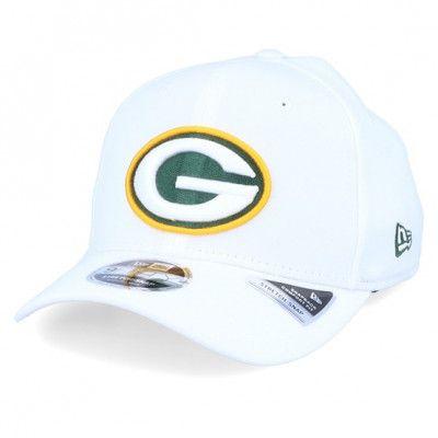 Keps Green Bay Packers Base Stretch 9Fifty White/Green/Yellow Adjustable - New Era - Vit Reglerbar