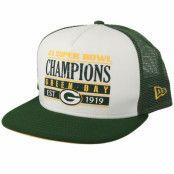 Keps Green Bay Packers Champs PK 9Fifty White/Green Trucker - New Era - Grön Trucker