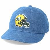 Keps Green Bay Packers Helmet Low Profile 9Fifty Denim Strapback - New Era - Blå Snapback