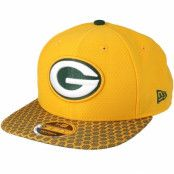 Keps Green Bay Packers Sideline 9Fifty Yellow Snapback - New Era - Gul Snapback