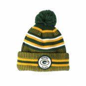 Mössa Green Bay Packers On Field 19 Sport Knit 2 Green/Yellow Pom - New Era - Grön Tofs