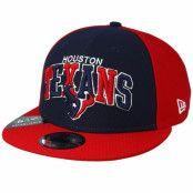 Keps Houston Texans On Field 19 9Fifty 1990 Navy/Red Snapback - New Era - Blå Snapback