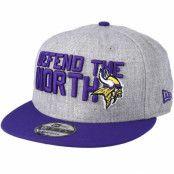 Keps Minnesota Vikings 2018 NFL Draft On-Stage Grey/Purple Snapback - New Era