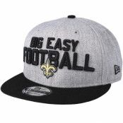 Keps New Orleans Saints 2018 NFL Draft On-Stage Grey/Black Snapback - New Era