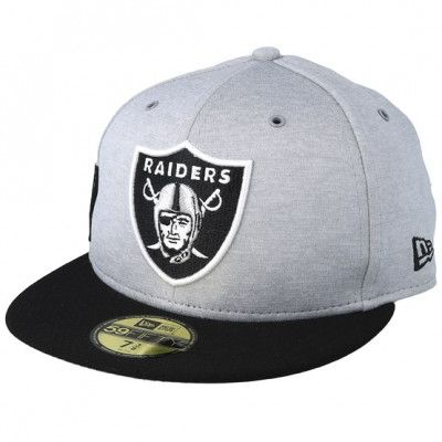 Keps Oakland Raiders 59Fifty On Field Grey/Black Fitted - New Era - Grå Fitted