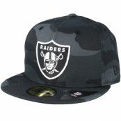 Keps Oakland Raiders Essential 59Fifty Charcoal Camo Fitted - New Era