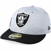 Keps Oakland Raiders Low Pro 59Fifty Grey/Black Fitted - New Era - Grå Fitted