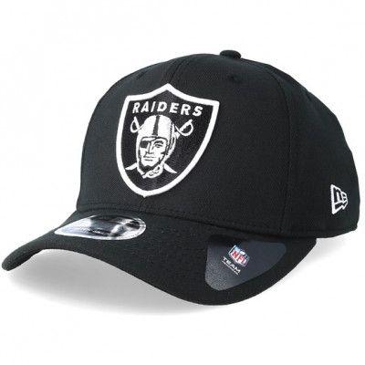 Keps Oakland Raiders Stretch Snap 9Fifty Black/White Snapback- New Era - Svart Reglerbar