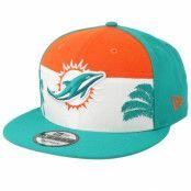 Keps Miami Dolphins 9Fifty NFL Draft 2019 Orange/White/Teal Snapback - New Era - Grön Snapback