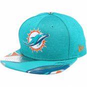 Keps Miami Dolphins Draft 2017 9Fifty Dark mint Snapback - New Era - Grön Snapback