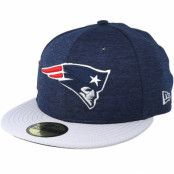 Keps New England Patriots 59 Fifty On Field Navy/Grey Fitted - New Era