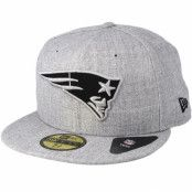 Keps New England Patriots 59Fifty Heather Grey Fitted - New Era - Grå Fitted