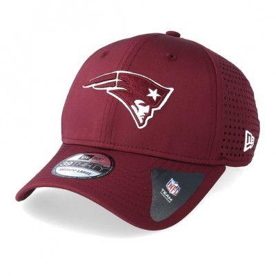 Keps New England Patriots Feather Perf 39Thirty Maroon/White Flexfit - New Era - Röd Flexfit