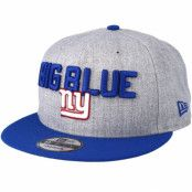 Keps New York Giants 2018 NFL Draft On-Stage Grey/Blue Snapback - New Era - Grå Snapback