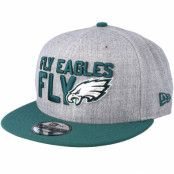 Keps Philadelphia Eagles 2018 NFL Draft On-Stage Grey/Teal Snapback - New Era - Grå Snapback