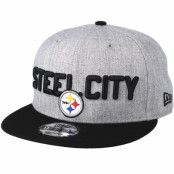 Keps Pittsburgh Steelers 2018 NFL Draft On-Stage Grey/Black Snapback - New Era